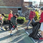 Scouts help clean up town