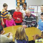 Westfield Elementary students enjoyed a pizza party after raising 1,740 cans for a local outreach.