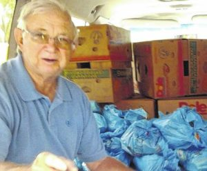 Postal workers collect five tons of food